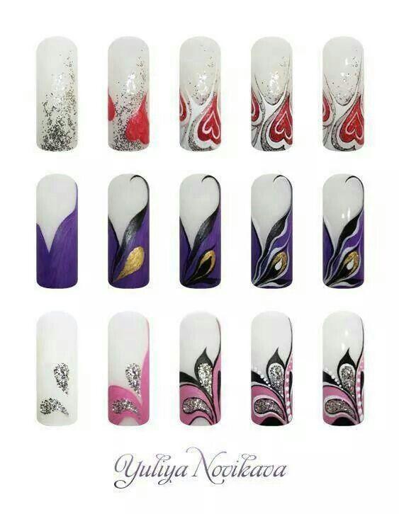 Дизайны ногтей лаком поэтапно