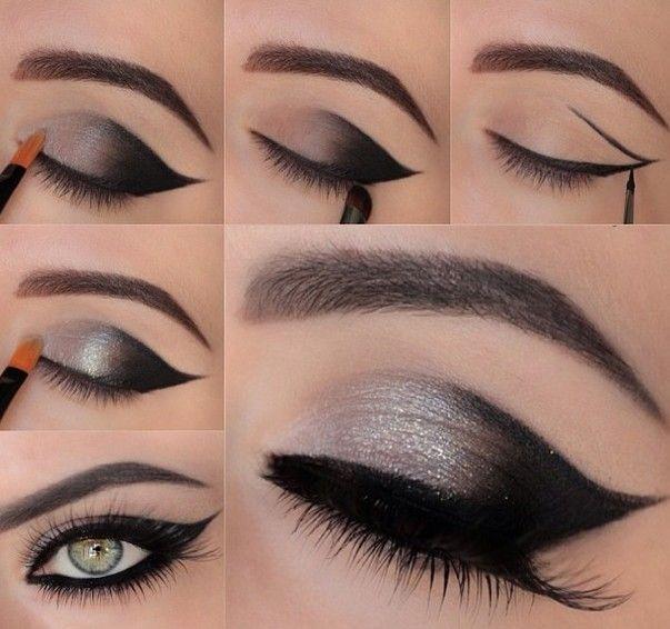 Красивый макияж глаз пошагово для