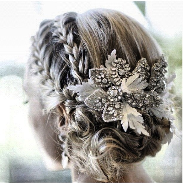 Wedding hair style_ glitter flower | Here comes the Bride..