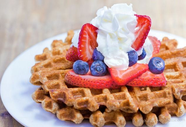 Healthy Waffles – Light, Fluffy, & Fat-Free and 130 calories for 2!