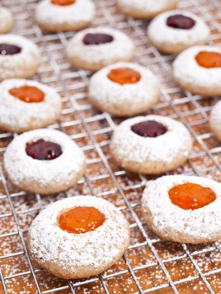jam thumbprint cookies | Christmas Baking | Pinterest