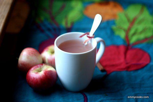 Apple Peel Tea...this is yummy. I used ginger, cloves, nutmeg & mine ...