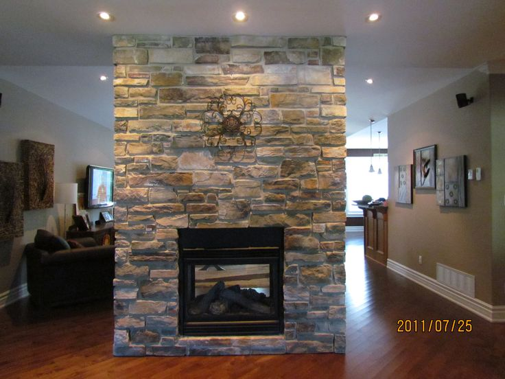 Double Sided Fireplace Casual Cottage