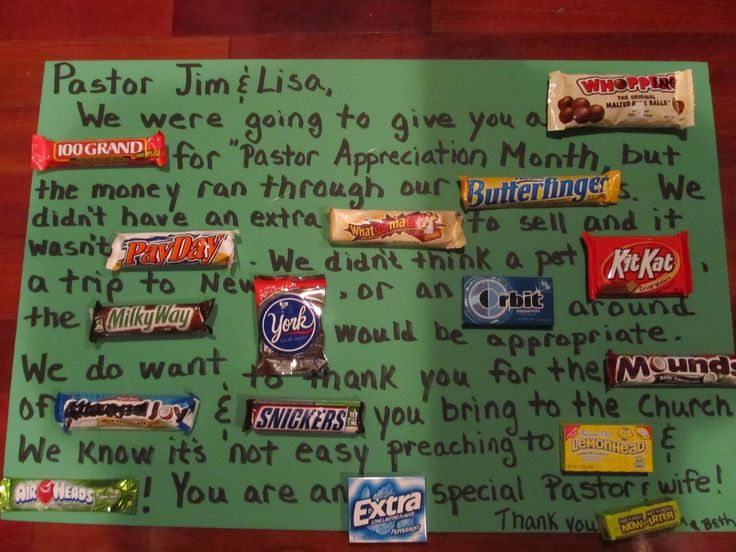 Poem with candy for pastors appreciation just b cause