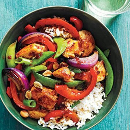 Sweet & spicy chicken stir fry   YUM!!   Pinterest