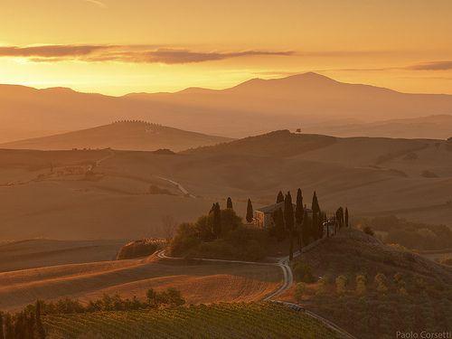 asiwaswalkingallalone: Tuscany Morning #5 by Corsaro078 on...