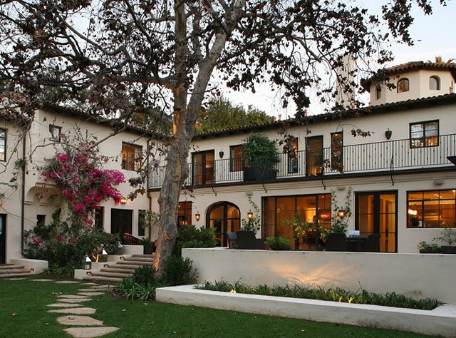 Landscape simple tuscan style backyard landscaping - Interior spanish style homes ...
