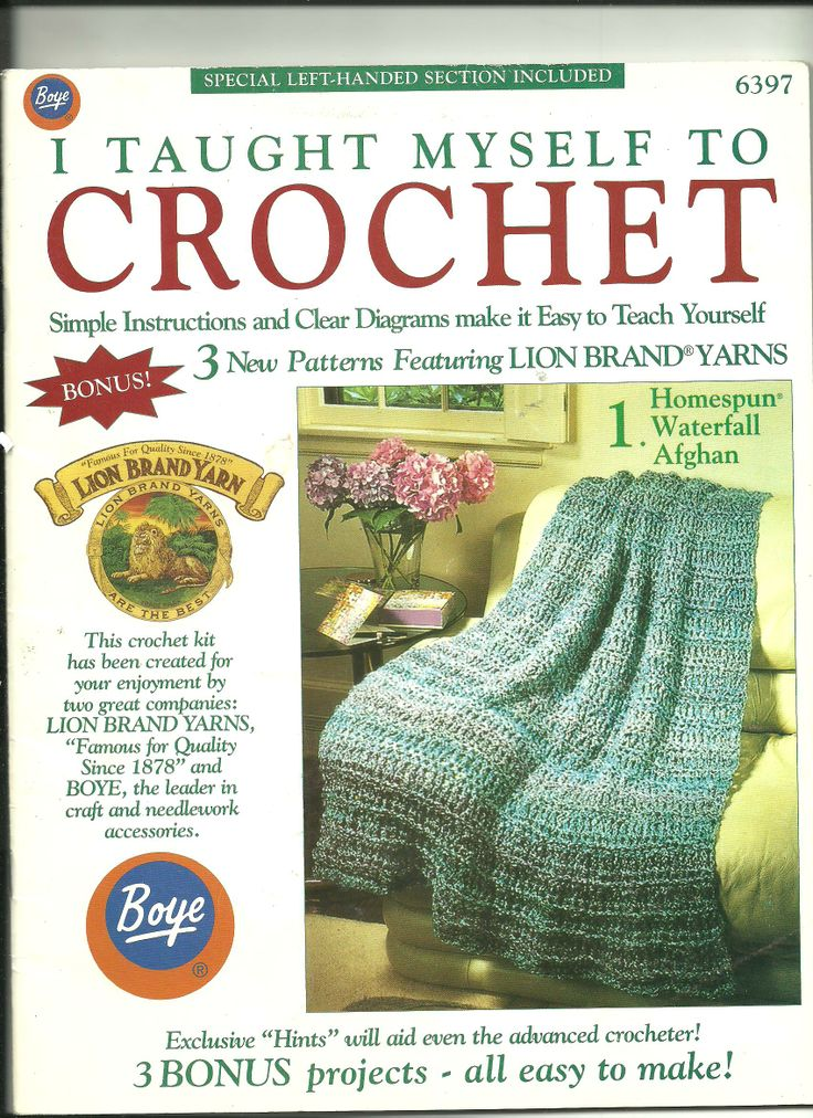 Crocheting (older) This is a good book to have to teach yourself ...