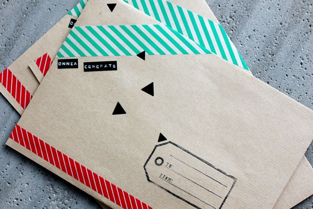 Decorate my envelopes with washi tape