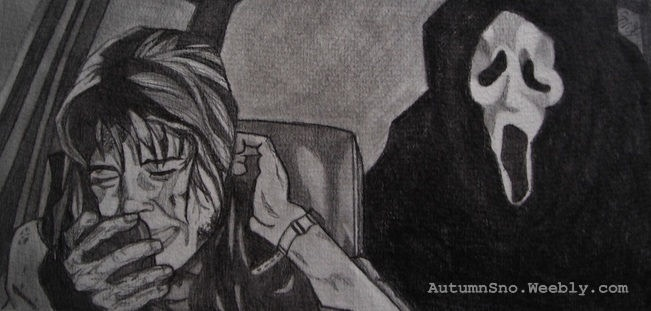 Scream. Pencil. Sidney Prescott!!!  