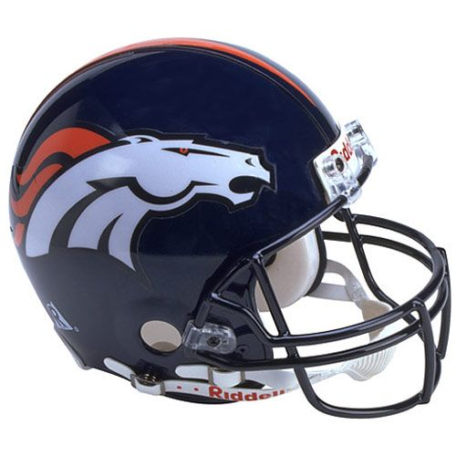 HelmetsBroncos Football Helmet Front View