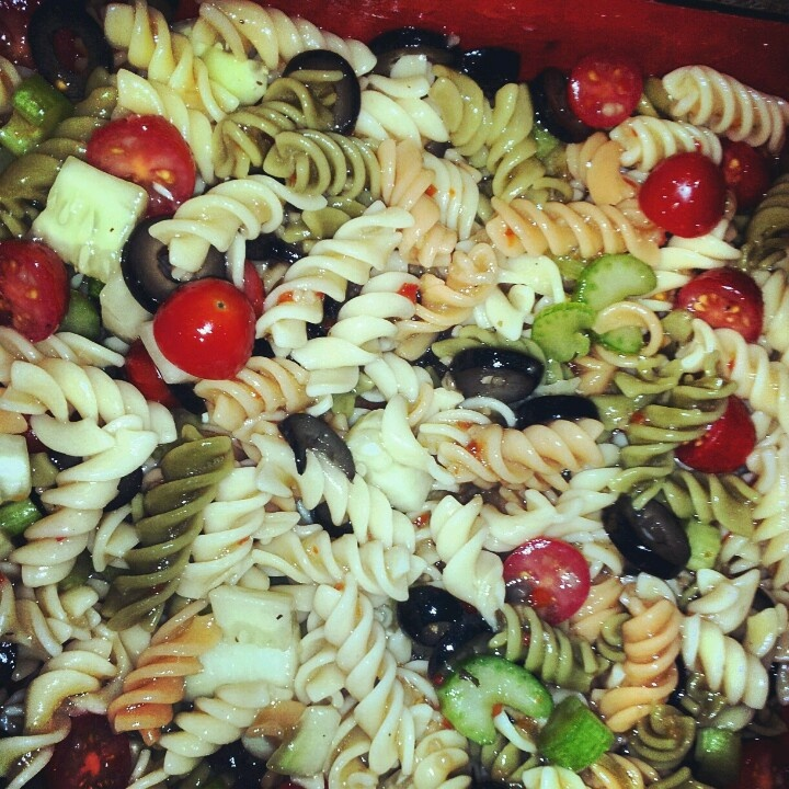 Cold Pasta Salad Comida Pinterest