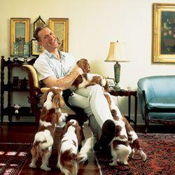 Designer Daniel Jones Cooper and his brood