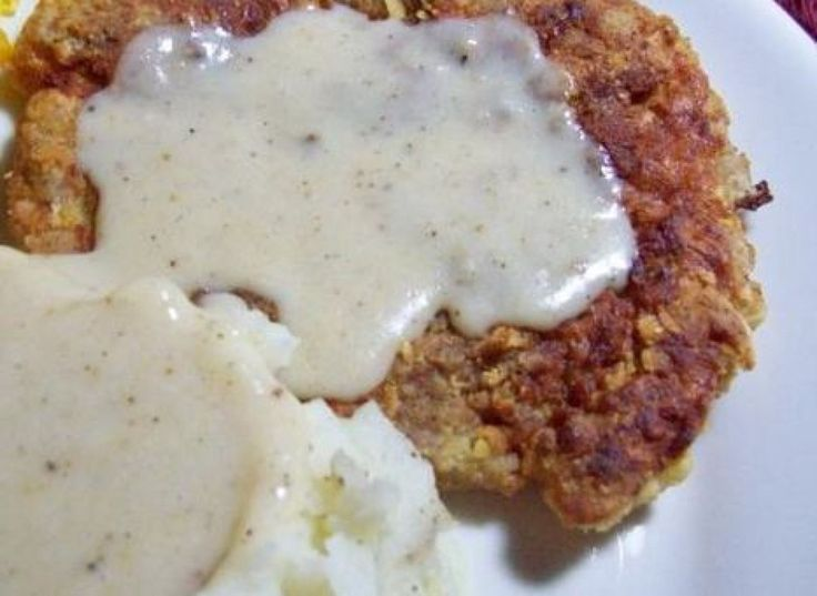 CHICKEN FRIED STEAK WITH CREAM GRAVY | Meat - Main Dishes | Pinterest