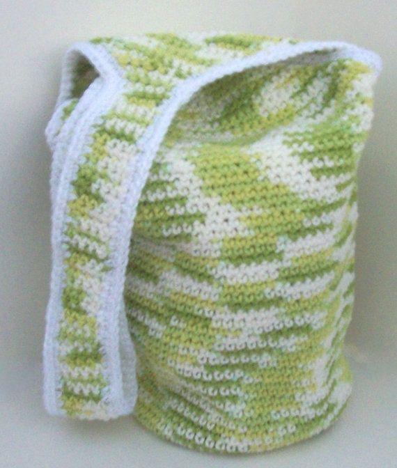 Crochet Cotton Bag : Multi use 100% cotton Tote bag crochet Everything Bag