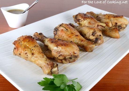 Cider-Glazed Chicken Drumsticks | Food - Recipes | Pinterest