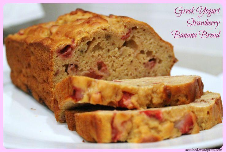 Greek Yogurt Strawberry Banana Bread....Healthy and Delicious | Recipe