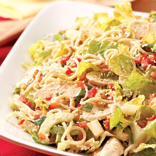 Asian Sesame Chicken Noodle Salad Recipe — Dishmaps