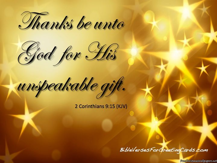 thanks be to god for his unspeakable gift kjv x--x.us 2017