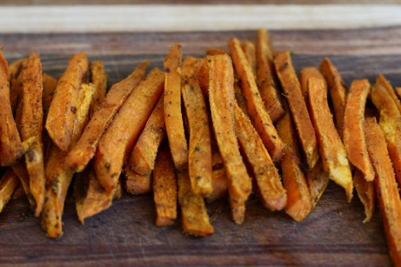 Baked Curry Sweet Potato Fries | Salads & Sides | Pinterest