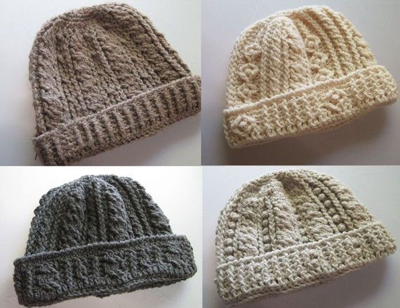 Pattern Crochet Hat For Man : Rugged Mountain Hat Collection Crochet Pattern Patterns ...