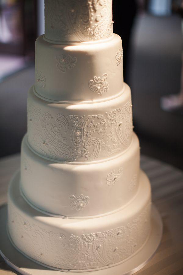 elegant fondant cake