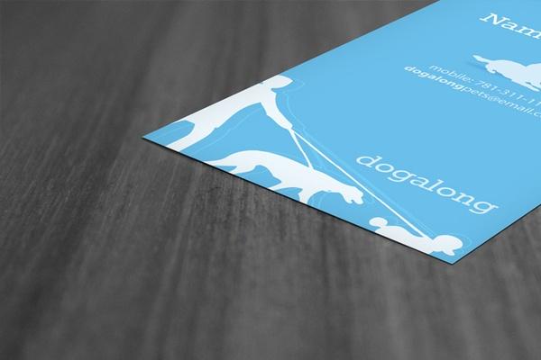 Dogalong, Business Card Design by Hazim Al Radadi, via Behance