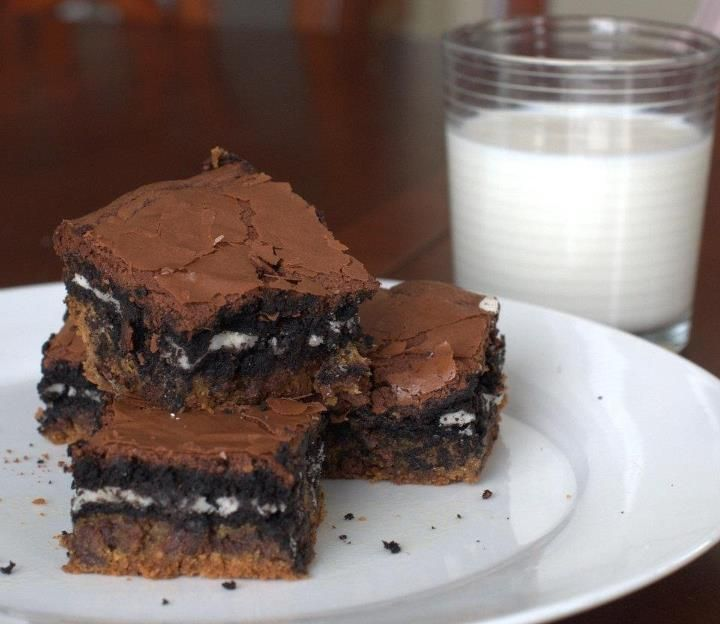 Slutty Brownies. FYI They are really gooey and need to be refrigerated ...