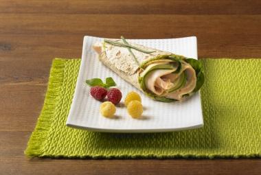 Green Goddess Turkey Wrap | #turkey #wrap #lunchrecipe | http://www.jennieo.com/recipes/455-Green-Goddess-Wrap
