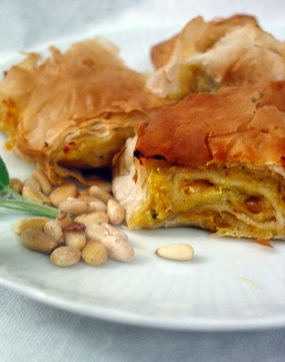 Acorn Squash and Roasted Garlic Strudel | Recipe