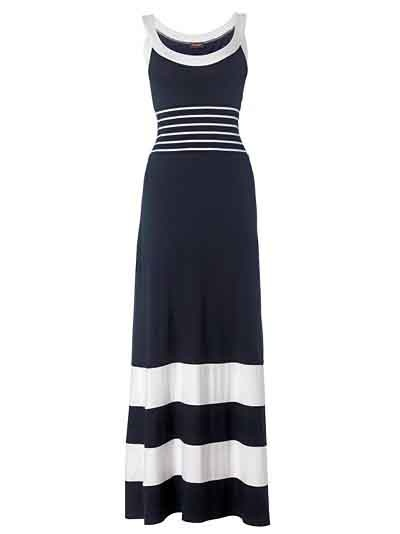 Knit dress with simple stripes