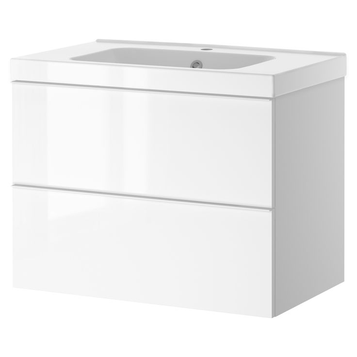 Ikea Kitchen Island Support ~ GODMORGON ODENSVIK Sink cabinet with 2 drawers, white high gloss white