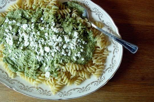 ... cheese with artichokes 5 pasta with mint pesto peas and ricotta salata