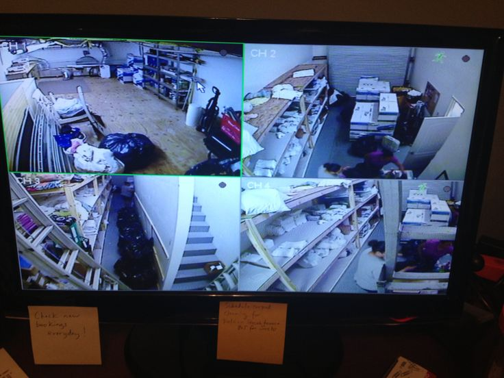 Cameras installed at warehouses