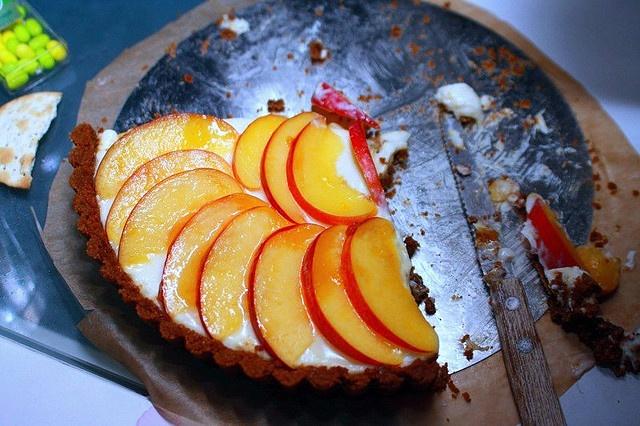 Nectarine and Mascarpone Tart with Gingersnap Crust. YUM. by smitten ...