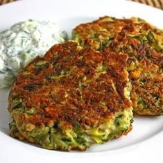 Greek Style Zucchini Fritters With Tzatziki (via www.foodily.com/r ...