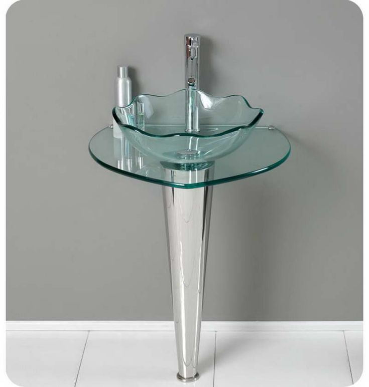 Glass Pedestal Sinks Bathroom : Small Pedestal Sink Design With Glass Bathroom ideas to use in mini ...