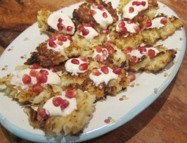 ... roasted cauliflower with blue cheese garlic and pomegranate