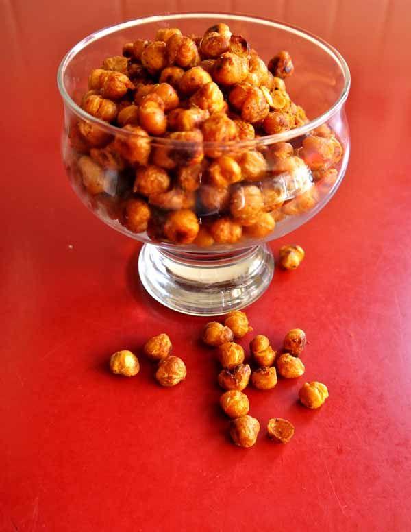roasted spiced chickpeas recipe | Food ideas | Pinterest