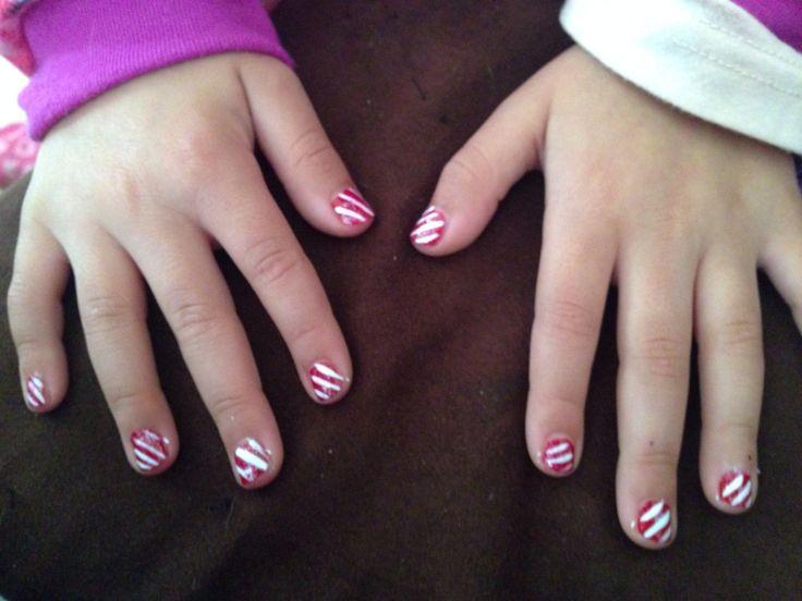 Cane Nails For Little Girls Little Girl Nail Art Designs Pi