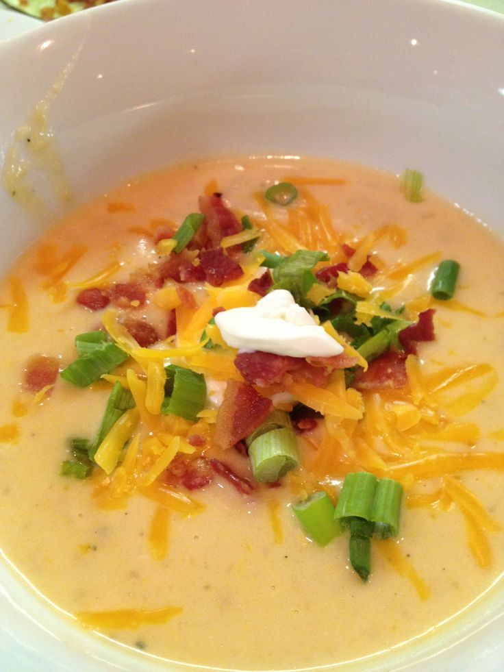 Baked Potato Soup-slow cooker | Crockpot recipes | Pinterest