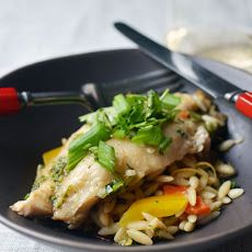 Ginger and Cilantro Baked Tilapia Recipe | Bon Appetit | Pinterest