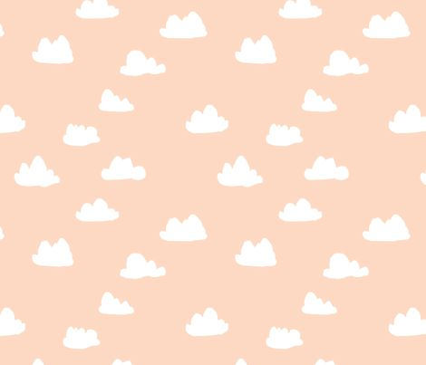 Clouds - Blush by Andrea Lauren fabric by andrea_lauren on Spoonflower - custom fabric