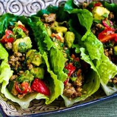 ground turkey amp black bean lettuce wrap tacos with lots of garlic ...