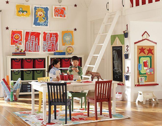 pottery barn artist playroom centers