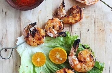Lemongrass and Sriracha Grilled Shrimp | seafood | Pinterest