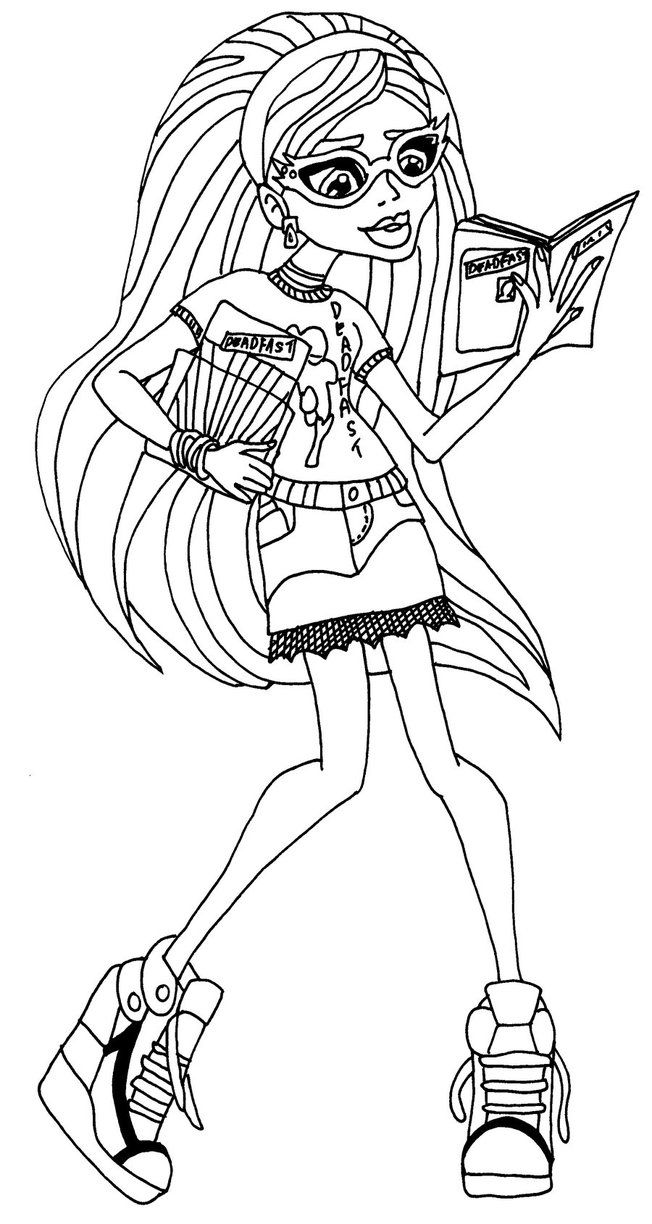 ghoulia yelps monster high coloring page pages to color