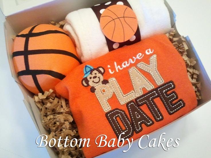 baby boy basketball theme gift set baby shower gift via etsy