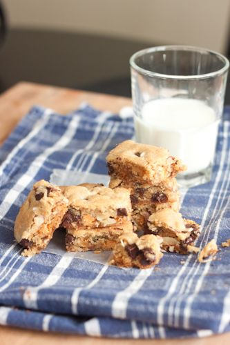 ... chocolate-butterscotch cookie bars (another blogger raved about these