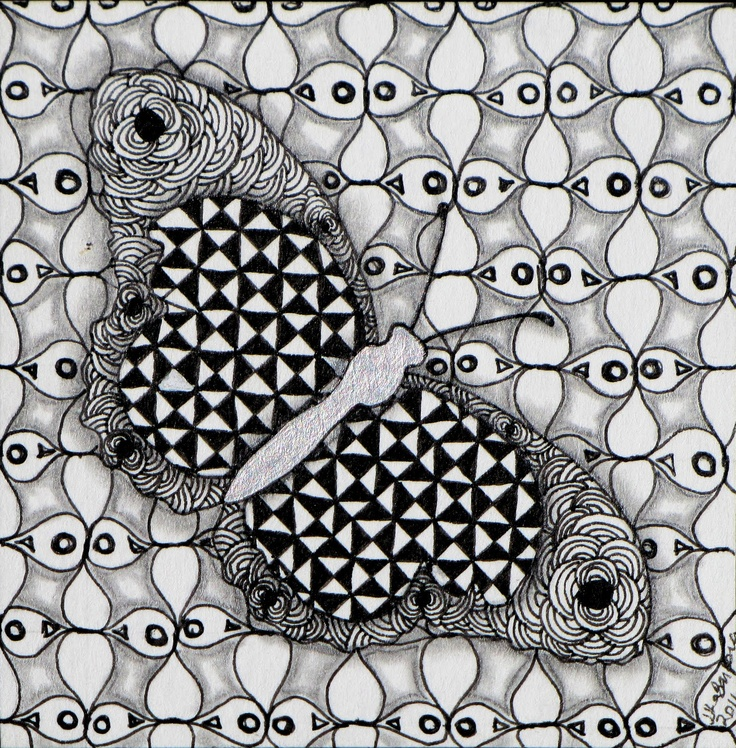 Found on tinkertangles blogspot comZentangles Butterfly